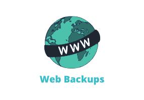 how do I back up my website